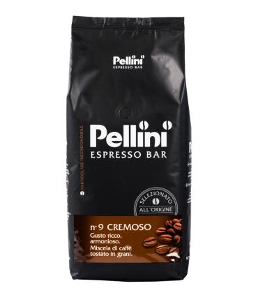 1kg balení zrnkové kávy Pellini Espresso Bar N. 9 Cremoso ze předu