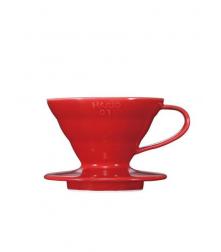 Hario Dripper V60-01 keramický červený