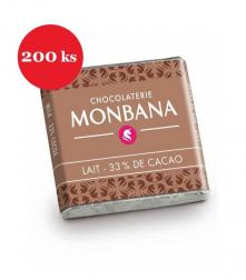 Čokoláda ke kávě Monbana mléčná 200 × 4 g