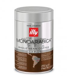 Illy Monoarabica Brazil zrnková káva v dóze