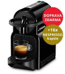 Kávovar De'Longhi Inissia EN 80.B Nespresso + 16x Nespresso kapsle