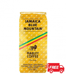 Marley Coffee Jamaica Blue Mountain zrnková káva 227g