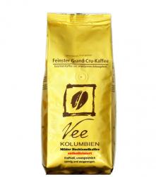 Vee's Kolumbie Mellow Mountain zrnková káva bez kofeinu 250g